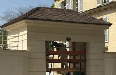 Le Porche De La Maison ravalement du porche de la maison waleska à boulogne billancourt